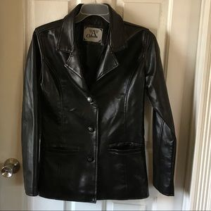A Collezioni | Black Lined Leather Jacket